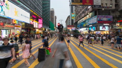 Time lapse of pedestrians and traffic, Hong Kong Stock Footage