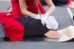 First aid training Stock Photos