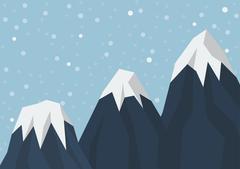 Three mountain peak Piirros