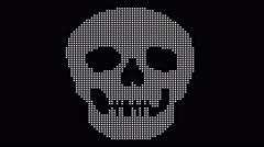 Pixel Skull Animation Stock Footage