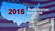 US Election Background Loop Stock Footage