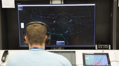 Air Traffic Services Authority control center Stock Footage