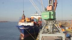 Container Loading in Port Stock Footage