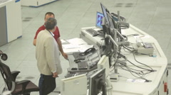 Air Traffic Services Authority control room Stock Footage