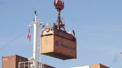 Hapag-Lloyd Container Loading Stock Footage