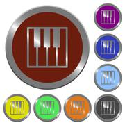Color piano keyboard buttons Stock Illustration