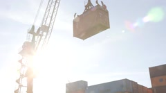 Container Loading Stock Footage