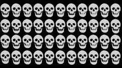 Laughing Skulls Stock Footage
