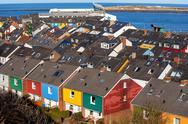 Residential area in Heligoland Stock Photos