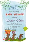 Lovely baby shower card Stock Illustration