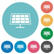 Flat solar panel icons Piirros