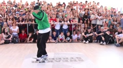 Breakdancer show at Street fight festival Stock Footage