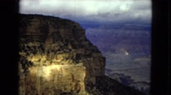 1967: the cliff of a rocky mountain with weak vegetation ARIZONA Stock Footage