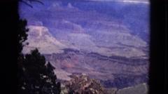 1967: looking down into deep dry desert canyon ARIZONA Stock Footage