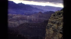1967: high mountain, looking down the canyon Stock Footage