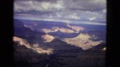 1967: a beautiful, large, rugged canyon under a dark, cloudy sky ARIZONA Stock Footage