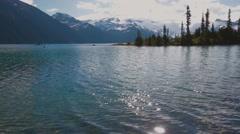 Hike to Garibaldi Lake near Whistler, BC, Canada. Stock Footage