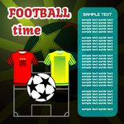 Football Soccer computer game Stock Illustration