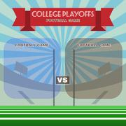College Football Playoffs Vector Illustration Stock Illustration