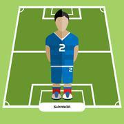 Computer game Slovakia Soccer club player Stock Illustration