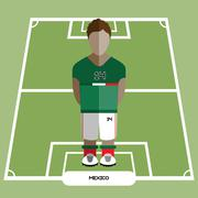 Computer game Mexico Soccer club player Stock Illustration