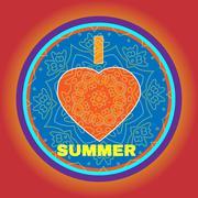 Summer Party Invitation I Heart Summer Stock Illustration