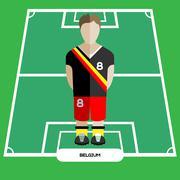 Computer game Belgium Football club player Stock Illustration