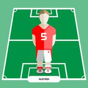 Computer game Austria Soccer club player Stock Illustration