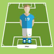 Computer game Italy Soccer club player Stock Illustration