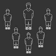 Team Players Silhouettes Stock Illustration