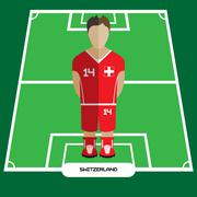 Computer game Switzerland Football club player Stock Illustration