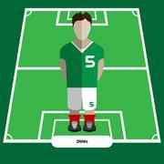 Computer game Iran Football club player Stock Illustration