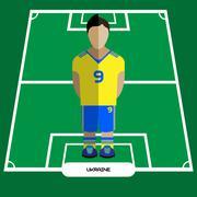 Computer game Ukraine Football club player Stock Illustration