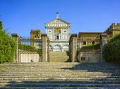Basilica San Miniato al Monte in Florence or Firenze, church in Tuscany Italy Stock Photos
