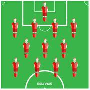 Computer game Belarus Football club player Stock Illustration