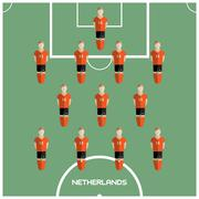 Computer game Netherlands Football club player Stock Illustration
