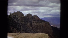 1967: view mountain huge valley shade tree outskirts ARIZONA Stock Footage
