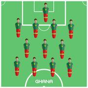 Computer game Ghana Football club player Stock Illustration