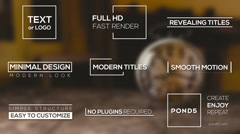 Modern Titles After Effects Text Animation template Stock After Effects