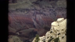 1967: view from the bottom to the top of the grand canyon  Stock Footage