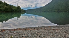 Serene scene by the lake in Canada Stock Footage