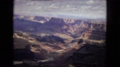 1967: vast hilly landscape with formation and ridges under the overcast sky Stock Footage