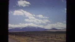 1967: a drive through mountains and a caw view ARIZONA Stock Footage