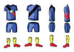 Soccer Sportswear stylish design Stock Illustration