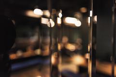 Defocused image of reflection on glass window Stock Photos