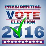 Presidential Vote Election Banner Stock Illustration