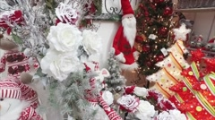 Christmas Gifts and Decor Stock Footage