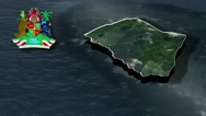Saint John with Coat Of Arms Animation Map Stock Footage