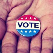 Badge for the United States election Stock Photos