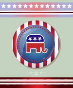 Usa Republican Party Elephant Symbol Banner Stock Illustration